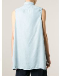 Acne Studios Blue 'Ash Fluid Sleeveless Button Up' Shirt
