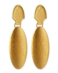 Stephanie Kantis | Metallic 24k Gold Dipped Empire Earrings | Lyst