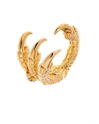 Alexander McQueen | Metallic Mini-Skull Claw Ring | Lyst