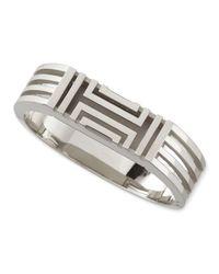 Tory Burch | Metallic Rhodium-Plated Fitbit-Case Bracelet | Lyst