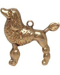 Annina Vogel - Metallic Vintage 9ct Gold Poodle Charm - Lyst