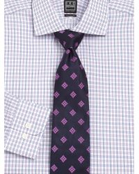 Ike Behar | Purple Checked Dress Shirt for Men | Lyst