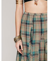 Free People - Green Latter To Love Skirt - Lyst