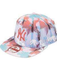 KTZ Blue Miami Vibe 9fifty Ny Yankees Strapback Cap for men