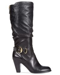 Guess - Black Gandy Leather Lace-up Boot - Lyst