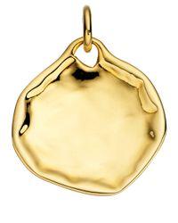 Monica Vinader - Metallic Large Riva Gold Vermeil Pendant - Lyst