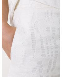 Scanlan Theodore White Cropped Lace Trousers