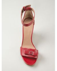 Marc By Marc Jacobs Red Wedge Sandals