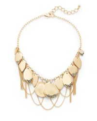 Saks Fifth Avenue - Metallic Leaf & Chain Fringe Necklace - Lyst