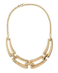 Kenneth Jay Lane - Metallic 22k Gold-plated Tiered Bib Necklace - Lyst