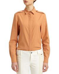 Stella McCartney - Orange Button-Front Blouse - Lyst