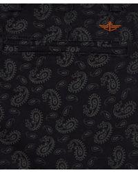 Dockers Blue Navy Alpha Khaki Paisley Slimfit Trousers L32 for men