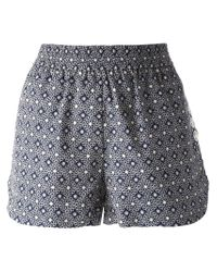 See By Chloé | Blue Floral Print Shorts | Lyst