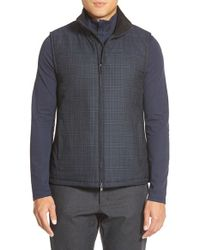 Vince Camuto | Blue Zip Front Wool Blend Vest for Men | Lyst