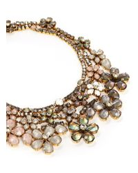 Erickson Beamon | Metallic 'sound Garden' Crystal Flower Bib Necklace | Lyst