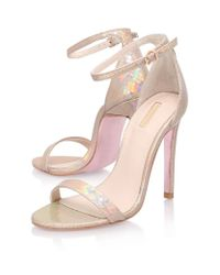 Carvela Kurt Geiger Natural Gatsby Shimmer Sandal