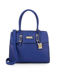 Catherine Malandrino | Blue Christina Saffiano Faux Leather Satchel | Lyst