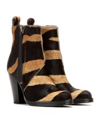 Acne Studios Black Mytheresacom Exclusive Colt Calf-hair Ankle Boots