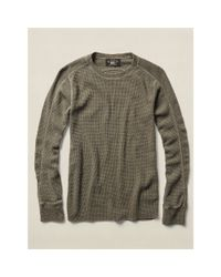 RRL - Natural Waffle-knit Cotton Pullover - Lyst