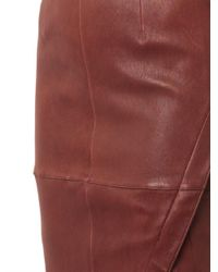 Elizabeth and James - Red Mercy Leather Skirt - Lyst