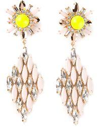 Shourouk | Pink 'cobra' Earrings | Lyst