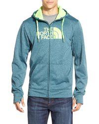 The North Face | Blue 'surgent Half Dome' Full Zip Hoodie for Men | Lyst