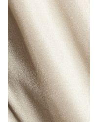 By Malene Birger Natural Cosyna High-waisted Silk-satin Pants