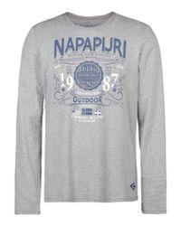 Napapijri | Gray Long Sleeve T-shirt for Men | Lyst