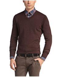 BOSS Orange - Brown Cotton-blend Sweater 'albino' for Men - Lyst