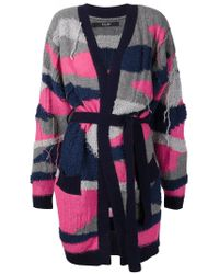 Sister by Sibling - Pink Camouflage Intarsia Knit Long Cardigan - Lyst
