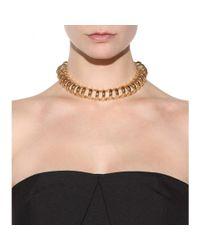 Balenciaga | Metallic Chain Track Necklace | Lyst