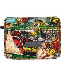 River Island Multicolor Marvel Comics Card Holder Wallet for men