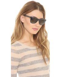 Ray-Ban Blue Highstreet Two Tone Sunglasses Grey