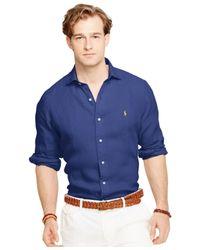 Polo Ralph Lauren | Blue Linen Sport Shirt for Men | Lyst