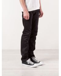Naked & Famous Black Selvedge Chino Trousers for men