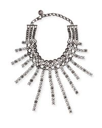 Lanvin | White Crystal Collar Necklace | Lyst
