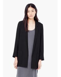 Mango | Black Patch-pocket Blazer | Lyst