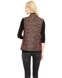 OTTE New York - Red Chloe Quilted Vest - Gold/Pink - Lyst