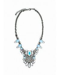 Missguided | Metallic Statement Gem Necklace Ice Grey | Lyst