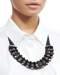 Marina Rinaldi | Black Lodevole Horseshoe Bib Necklace | Lyst