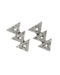 House of Harlow 1960 - Metallic Tessellation Earrings - Lyst