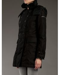 Peuterey - Black Double - Breasted Coat - Lyst