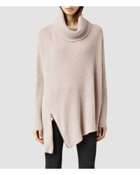 AllSaints | Pink Able Roll Neck Sweater | Lyst