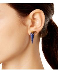 Tory Burch - Blue Mismatched Charm Earring Set - Lyst
