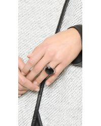Rebecca Minkoff | Metallic Feather Stone Ring | Lyst