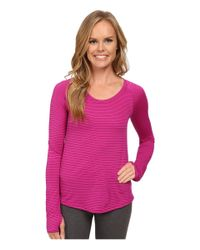 The North Face | Purple Long Sleeve Zinnia Top | Lyst