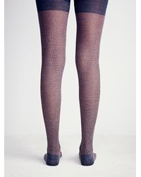 Free People - Purple Hansel From Basel Womens Grotto Heathered Tight - Lyst