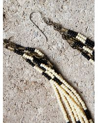 Free People - Black Ghost Dancer Earrings - Lyst
