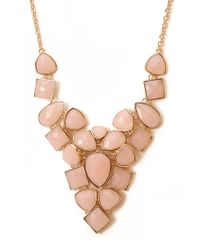 Forever 21 | Pink Opulent Faux Gemstone Necklace | Lyst