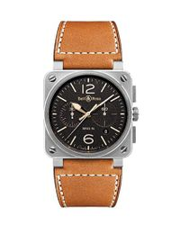 Bell & Ross Black Br03 Golden Heritage Chronograph Watch